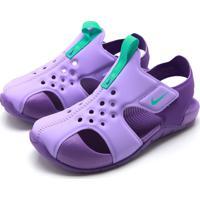 Sandália Nike Menina Sunray Protect Roxa