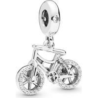 Charm Pendente Brilhante Bicicleta