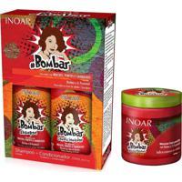 Kit Inoar Bombar Shampoo + Condicionador 250Ml + Mascara 500Ml