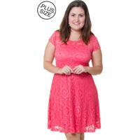 Vestido Estilo Fino Moda Renda Rosa