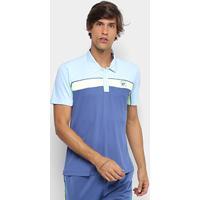 Camisa Polo Fila Soft Masculina - Masculino-Azul+Amarelo