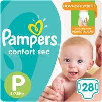 Fralda Pampers Confort Sec 28 Unidades - Unissex-Incolor