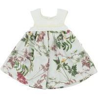 Vestido Flores Com Bordado Ref.5072 - Sonho De Nenê-Rosa-G