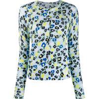 Escada Sport Camisa Floral - Azul