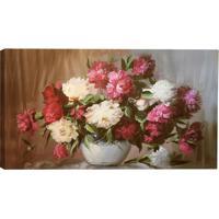 Quadro Impresso Floral- Off White & Rosa- 55X100X3Cmatelie Valverde