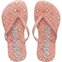 Chinelo Petite Jolie Infantil Recolorir Rosê/Super Star Pj6036In