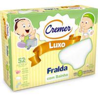 Fralda Luxo Com Bainha - Cremer - Unissex-Branco