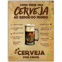 Placa Decorativa Em Mdf Como Pedir Cerveja 20X30 Único