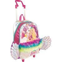Mochila Infantil Barbie Grande Dreamtopia Com Rodinhas - Feminino-Rosa