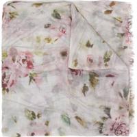 Faliero Sarti Floral Scarf - Rosa