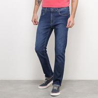 Calça Jeans Calvin Klein Skinny Clássica Masculina - Masculino-Azul