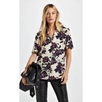 Camisa De Viscose Estampa Floral Bel Est Floral Bel Victoria E Preto - 38