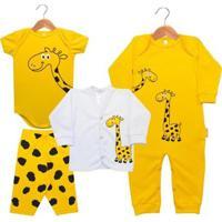 Kit Bebê Nigambi Girafinha 4 Peças Unissex - Unissex
