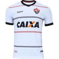 Camisa Do Vitória Ii 2018 Topper - Masculina - Branco/Vermelho