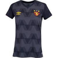 Camisa Do Sport Recife Iii 2019 Umbro - Feminina - Preto/Vermelho