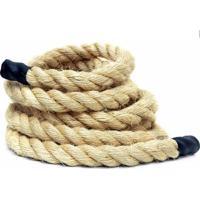Corda De Sisal Para Escalada E Funcional - Crossfit Rope Climb 38Mm X 11 Metros - Unissex