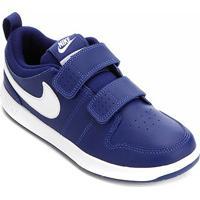 Tênis Infantil Nike Pico 5 Velcro Psv - Masculino-Azul Royal+Branco