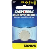 Bateria Rayovac Electrônica Cr2025 Litio Com 1 Unidade