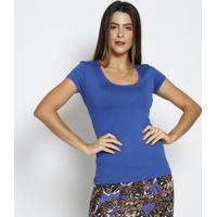 Blusa Lisa Com Tag Da Marca - Azul Escuro - Thiptonthipton