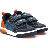 Geox Kids Tênis Cano Baixo Com Velcro - Azul