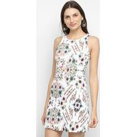 Vestido Curto Lez Lez Tropical - Feminino-Floral