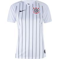 Camisa Do Corinthians I 2019 Nike - Feminina - Branco/Preto
