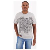 Camiseta O'Neill Estampada Cinza Mescla