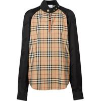 Burberry Vintage Check Panelled Blouse - Preto