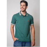 Camisa Pau A Pique Polo Estampada Verde