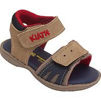 Papete Com Velcro- Marrom & Azul Marinho- Baby- Kiath
