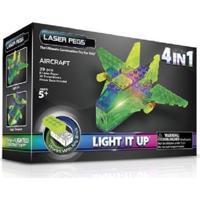 Blocos De Montar Laser Pegs Aeronaves 4 Em 1 Verde