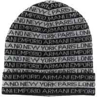 Emporio Armani Gorro Com Estampa New York - Cinza