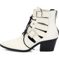 Bota Country Aberta Connect Shoes New Pele Branco