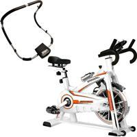 Bike Spinning Oneal Tp1100 Semi Profissional Aparelho Abdominal Dobrável Liveup