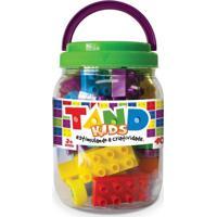 Pote Com Blocos De Montar Tand Kids - 40 Peças - Toyster - Unissex-Incolor