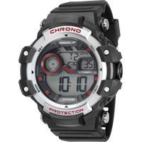 Kit De Relógio Digital Speedo Masculino + Carregador Portátil - 11015G0Evnp1Ka Preto
