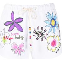 Mira Mikati Calça Esportivo Com Bordado Floral - Branco