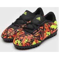 Chuteira Adidas Infantil Nmz Messi 20 4 Society Jr Preta/Laranja