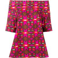 Aspesi Blusa Com Estampa Geométrica - Rosa