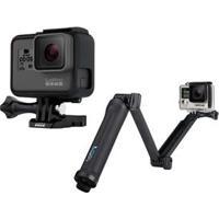Câmera Digital E Filmadora Gopro Hero5 Black Chdhx-501 Cinza + Suporte 3 Formas Gopro Afaem-001 Para Câmeras Hero