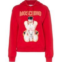 Moschino Blusa De Moletom Com Estampa - Vermelho
