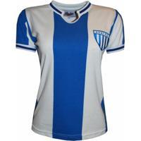 Camisa Liga Retrô Avaí 1975 - Feminino-Azul+Branco
