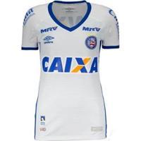 Camisa Umbro Bahia Oficial 1 2016 Feminina - Feminino-Branco+Azul