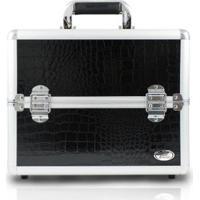 Maleta Profissional De Esmalte Jacki Design De Alumínio + Pu - Feminino-Preto