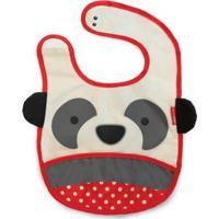 Babador Skip Hop Zoo Panda - Unissex-Vermelho