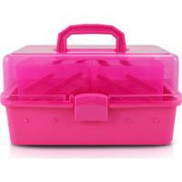 Caixa Organizadora Com Transparência- Pink- 18X31X17Jacki Design