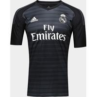 Netshoes  Camisa De Goleiro Real Madrid 2018 S N° - Torcedor Adidas  Masculina - Masculino 7b4b94724245c