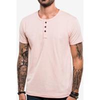 Camiseta Henley Rosa 103841