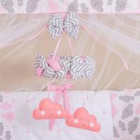 Móbile Berço Bebê Menina Nuvem Rosa