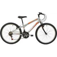 Bicicleta Mtb Aro 24 Masculina V- Brake 18 Marchas Aço Carbono Rígido Polimet - Masculino